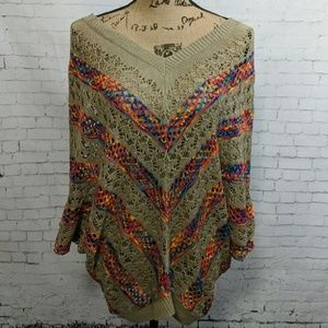 Roommates V-neck Colorful Sweater NEW!